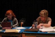 Elyse Q (Stage manager) & Joan McBride (Director)