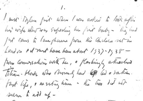 Opening page of David Hughes memoir-1