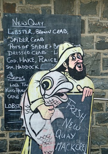 Fishmonger's sign, New Quay