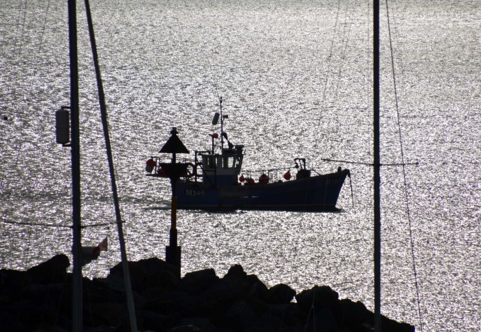 Fishing boat at New Quay